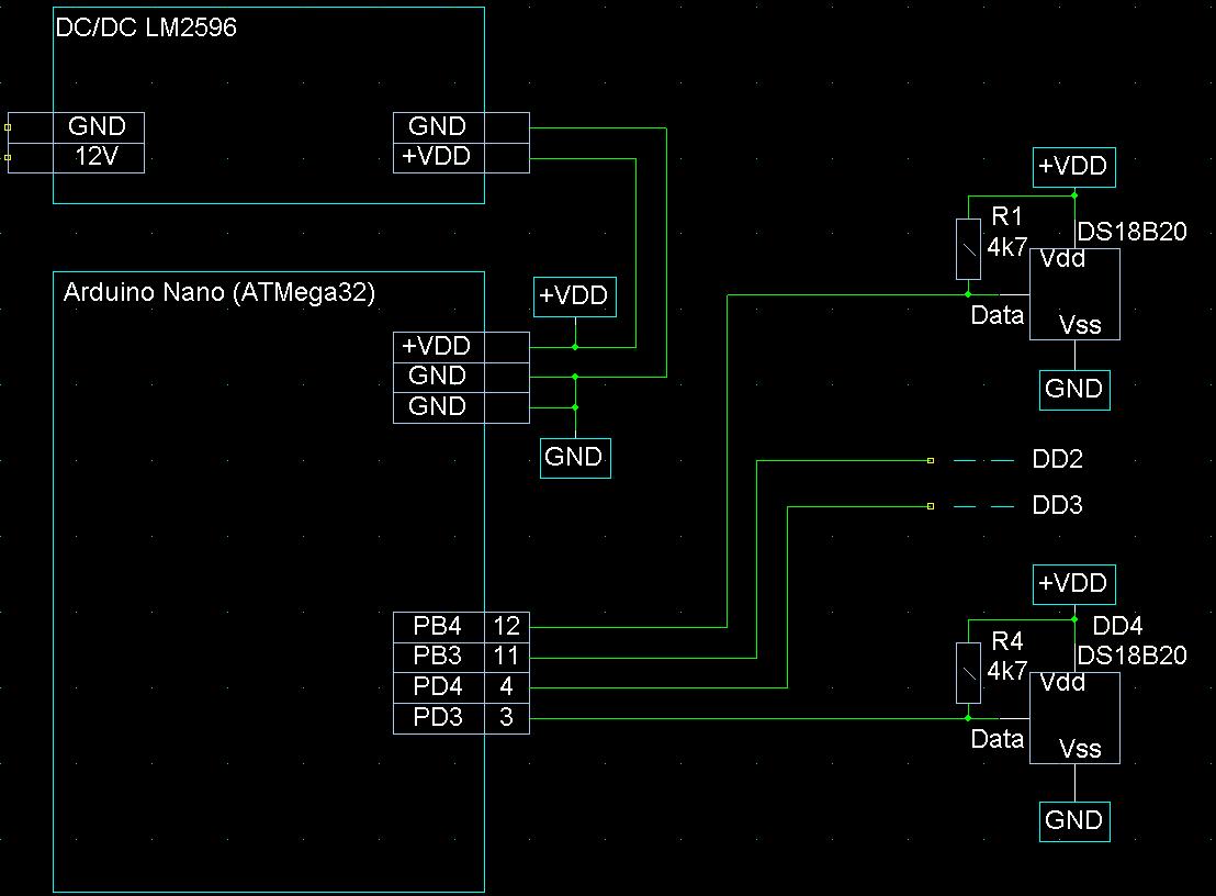 Подключение термометров DS18b20 к Ардуино Nano