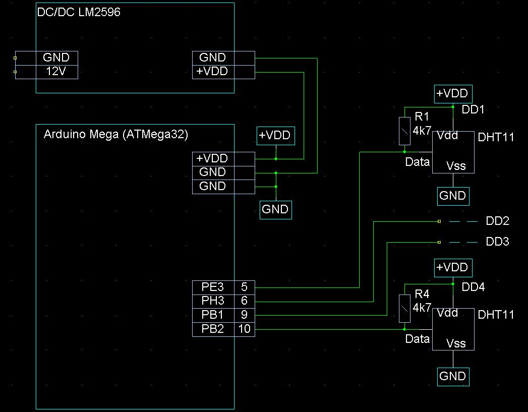 Подключение датчиков DHT11 к Ардуино Nano