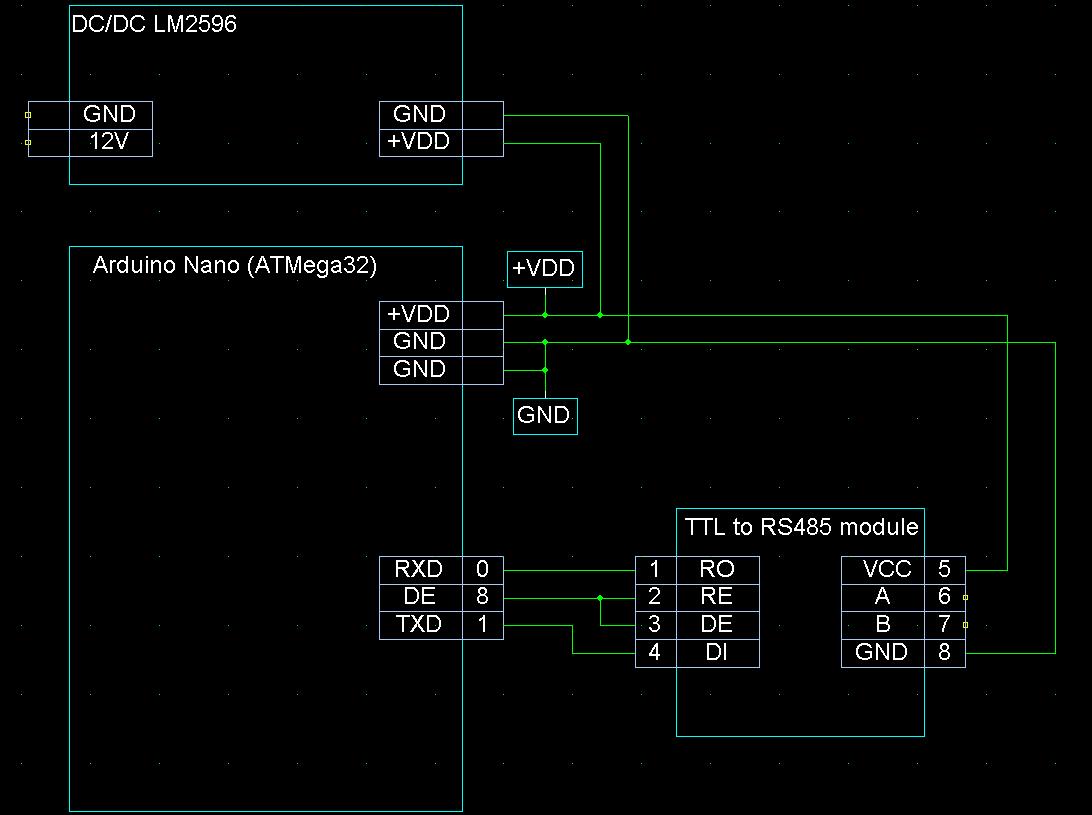 Подключение интерфейса RS485 к Ардуино Nano