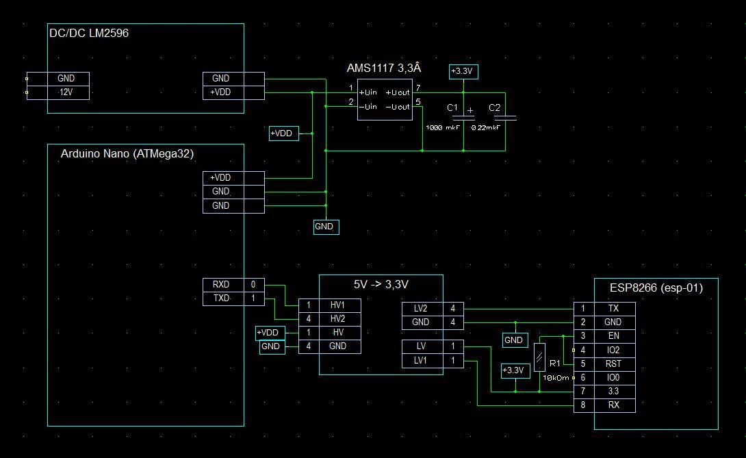 Подключение WiFi модуля ESP8266 (esp-01) к Arduino