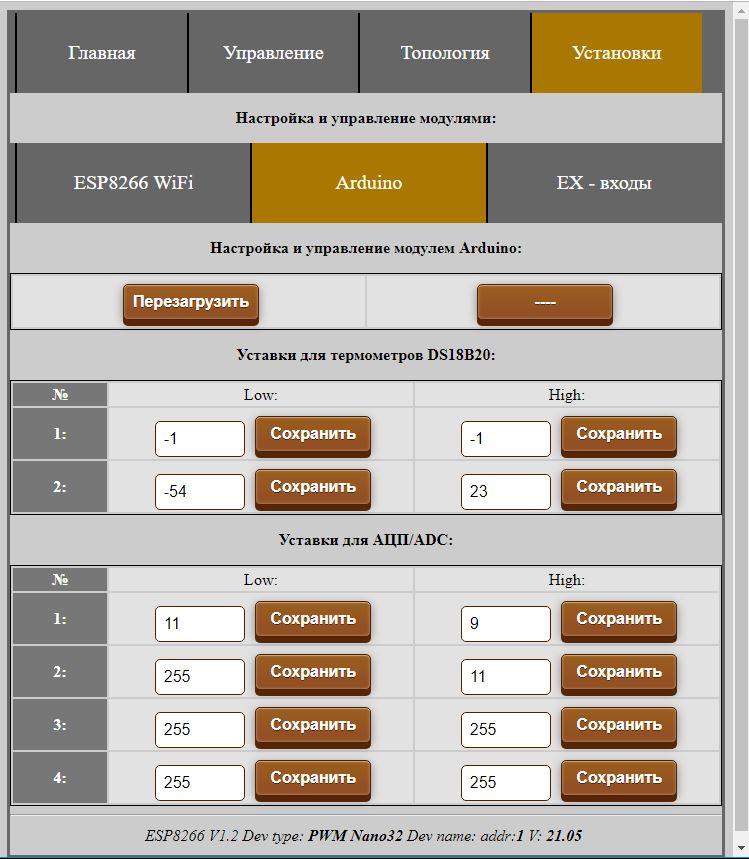 Управление модулем Arduino через веб-интерфейс