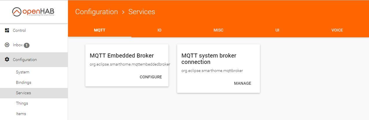 MQTT Embedded Broker MQTT system broker connection